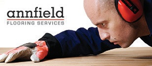 Logo and link to Annfield Flooring Services home page